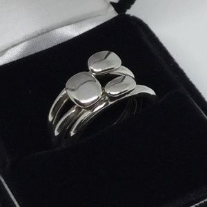Jewelry - Set of Three Silver Plated Fashion Rings